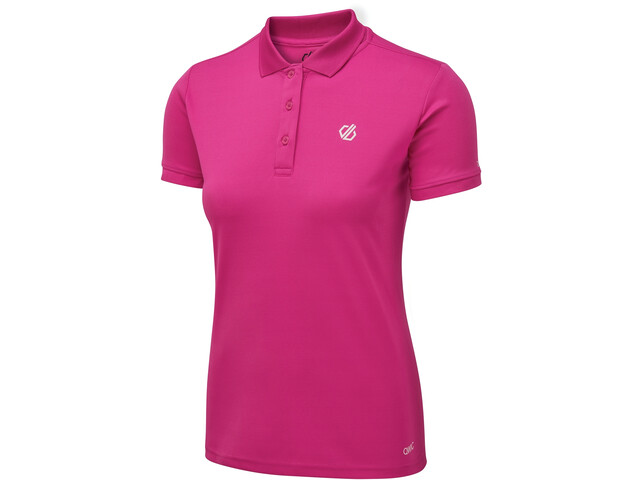Dare 2b Set Forth Polo Femme, active pink
